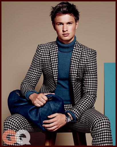 Ansel Elgort Models Fall Fashion For Gq Shine On Media