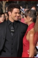 Kellan Lutz & Sharni Vinson at the premiere of Breaking Dawn Part 1