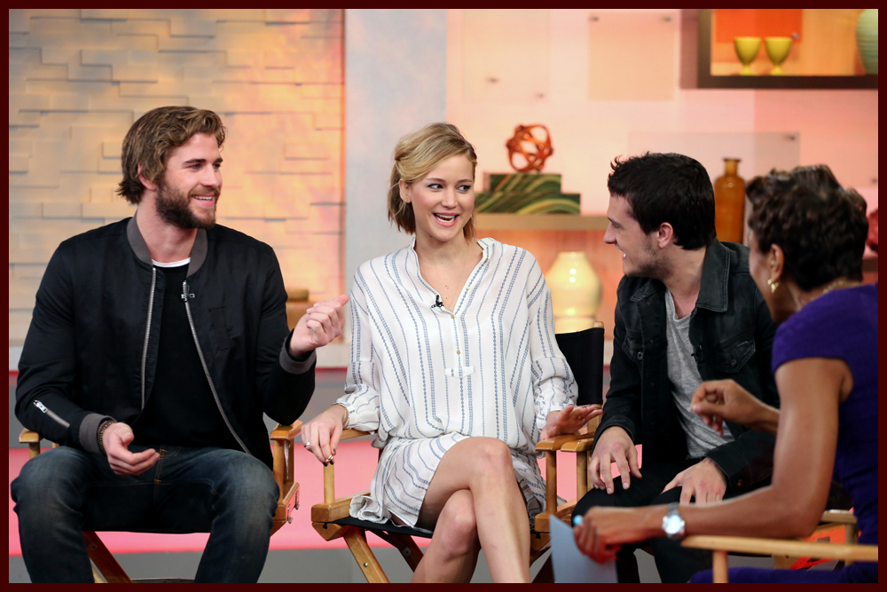 Shine On Media   Liam Hemsworth, Jennifer Lawrence & Josh