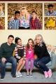 """SYDNEY TO THE MAX - Disney Channel's """"Sydney to the Max"""" stars Ian Reed Kesler as Max Reynolds, Ruth Righi as Sydney Reynolds, Ava Kolker as Olive, and Caroline Rhea as Mom and Grandma Judy. (Disney Channel/Mitch Haaseth)"""