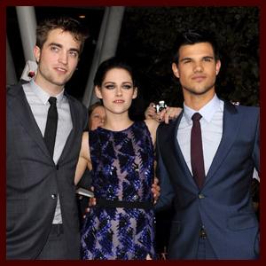 Robert Pattinson, Kristen Stewart, Taylor Lautner Breaking Dawn Part 1 Premiere