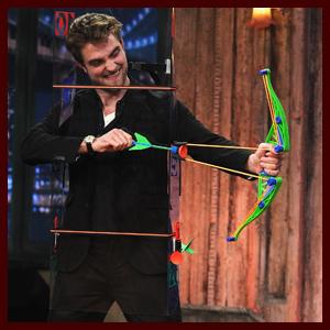Robert Pattinson shows off his archery skills on Jimmy Fallon