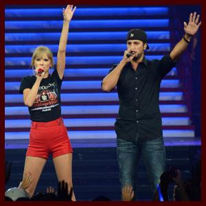 Taylor Swift Teams Up with Luke Bryan in Nashville & Talks New Album