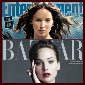 "Jennifer Lawrence Covers ""Harper's Bazaar UK"" Plus Four 'Catching Fire' EW Covers"