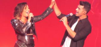 Demi Lovato Teams Up with Joe Jonas & Travis Barker at Staples Center Concert