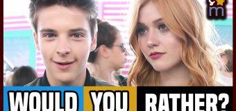 """Kat McNamara, Corey Fogelmanis & More Play """"Would You Rather"""" at Teen Choice Awards 2016"""
